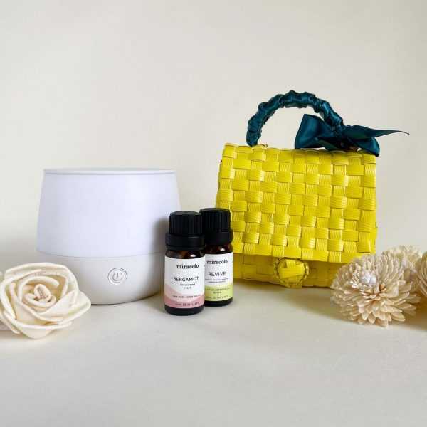 Aroma Raya | White Bag, Misty White | Raya Gift Set